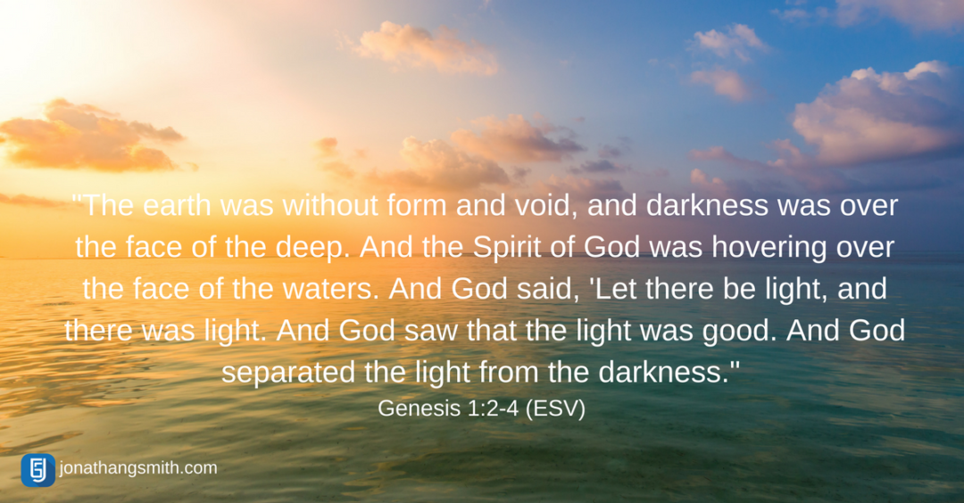 Verse of the Week | Genesis 1:2-4